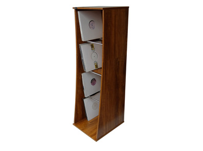 Sefour Vinyl Storage Tower Mid Century Synth in Rosewood