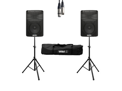 Alto TX308 (Pair) w/ Stands, Cable & Carry Bag