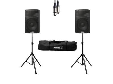 Alto TX310 (Pair) w/ Stands, Cables & Carry Bag