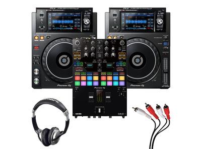 Pioneer XDJ-1000MK2 (Pair) + DJM-S7 w/ Headphones + Cable