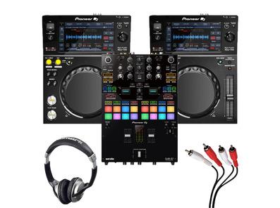 Pioneer XDJ-700 (Pair) + DJM-S7 w/ Heaphones + Cable