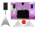 PAIR Gorilla PA Speaker Stand Scrim Lycra Covers Lighting Screens