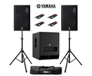 Yamaha DXR15 (Pair) & DXS15 MK2 with Stands and Cables