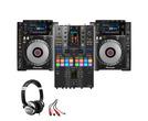 Pioneer CDJ-900NXS (x2) + DJM-S11 SE w/ Headphones + Cable