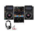Pioneer CDJ-3000 (x2) + DJM-S11 w/ Headphones + Cable