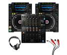 Pioneer CDJ-2000 NXS2 (Pair) + DJM-900 NXS2 w/ Headphones + Cable