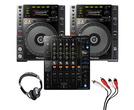Pioneer CDJ-850 (Pair) + DJM-750MK2 w/ Headphones + Cable