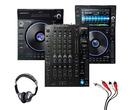 Denon LC6000 + SC6000 + X1850 Mixer w/ Headphones + Cable