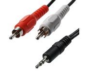 3.5mm Stereo Plug - RCA Phono Plug 5m Cable