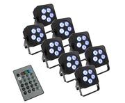 LEDJ Slimline 5Q5 x8 & Remote Package