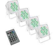 LEDJ Slimline 7Q5 White x4 & Remote Package