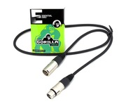 Gorilla Essential Cable 1m Male XLR To Female XLR Microphone Lead