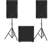 Mackie SRM650 Speakers & SRM1850 Sub Active Sound System