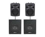 QTX Sound QR8K Speakers & QT15SA Subs Package