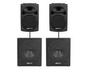 QTX Sound QR12K Speakers & QT15SA Subs Package