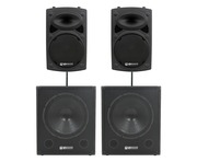 QTX Sound QR12K Speakers & QT18SA Subs Package