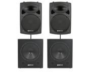 QTX Sound QR15K Speakers & QT15SA Subs PA Package