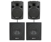 QTX Sound QR15K Speakers & QT18SA Subs PA Package