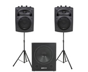 QTX Sound QR8K Speakers & QT15SA Sub PA Package