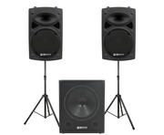 QTX Sound QR12K Speakers & QT15SA Sub Package