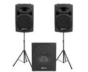 QTX Sound QR12K Speakers & QT15SA Sub Package