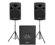 QTX Sound QR12K Speakers & QT18SA Sub Package