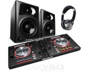 Numark Mixtrack Pro 3 with M-Audio AV42 Speakers Package