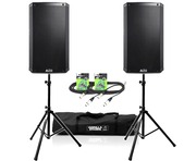 Alto TS215 Speaker Pair & Stands and XLR Cables