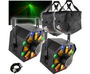 2x Chauvet Swarm Wash FX with 2x Chauvet CHS-40 Bags & DMX Cable