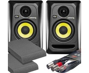 2x KRK RP4 G3 Black with Pads and Cables