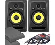 KRK Rokit RP6 G3 & Isolation Pads & Cables