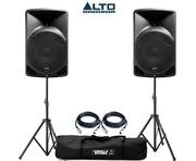 Alto TX12 Active Speakers Pair & Tripod Speaker Stands