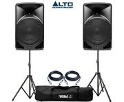 Alto TX15 Active Speakers Pair & Tripod Speaker Stands