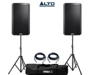 Alto TS215W Speaker Pair with Stands and Cables