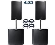 Alto 2x TS212 Speakers & 2x TS215S Package