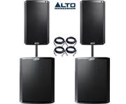 Alto 2x TS212 Speakers & 2x TS218S Package