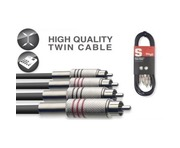 Stagg 2x RCA Phono To 2x RCA Phono Twin Cable 6m