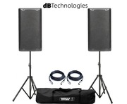 dB Technologies Opera 12 Pair with Stands & Cables