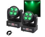 Equinox Fusion 50 HEX Moving Head (Pair) with Cable