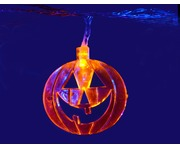 QTX Halloween LED String Lights - 10 x Orange Pumpkins
