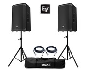 2x Electro-Voice EKX-12P with Stands & Cables