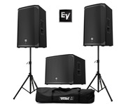 2x Electro-Voice EKX-15P & 1x EKX-18SP Sub