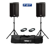 FBT ProMaxx 112a (Pair) with Stands & Cables