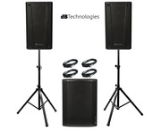 2x db Technologies B-Hype 12 Speakers with Sub 615