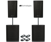 2x db Technologies B-Hype 15 Speaker with 2x Sub 618