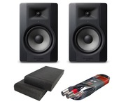 M-Audio BX8 D3 Monitors with Isolation Pads & Cable