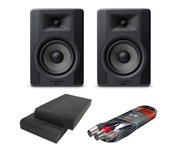M-Audio BX5 D3 Monitors with Isolation Pads & Cable