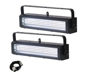 Equinox Blitzer LED Strobe White (Pair) with DMX Cable