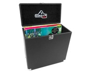 "Gorilla LP-45 Retro Vinyl 12"" Record Storage Case (Taxi Black)"