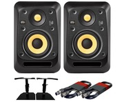 2x KRK V4S4 with GSM-50 Stands & Cables